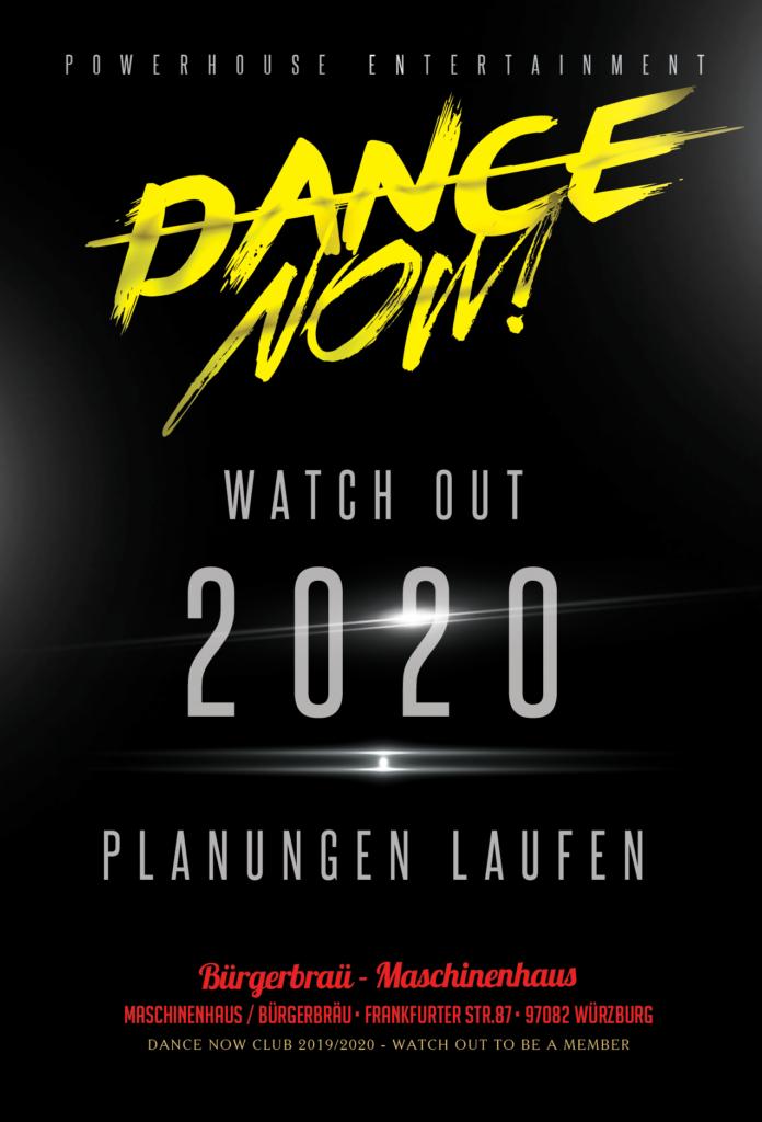 Flyer Dance Now 2020 Planungen