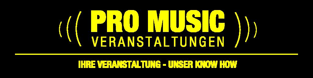 Logo Pro Musik Veranstaltungen transparent gelb